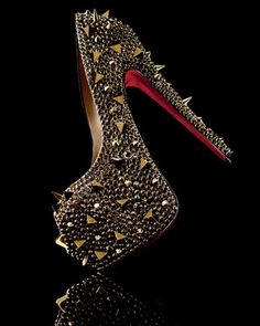 "Christian Louboutin -Aptly named the ""Extreme,"" this Christian Louboutin pump is a show-stopping statement piece"