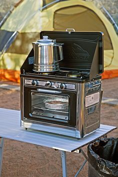 Camp Chef Outdoor Camp Oven - Anacleta - Camp Chef Outdoor Camp Oven Chocolate chip cookies fresh out of the oven on a camping trip' Yes, you can! The Camp Chef Outdoor Camp Oven is a fully portable oven and range combo you can take to the state par - Auto Camping, Camping Glamping, Camping Chairs, Camping Survival, Camping Gear, Backpack Camping, Camping Items, Camping List, Hiking Gear