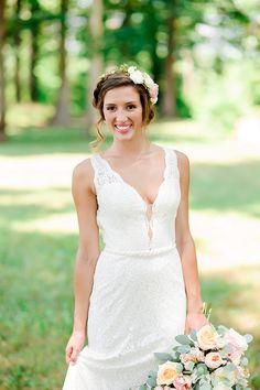 Gown from #GlitzNash @GlitzNash (Osborn Wedding) (Photography: Tracy Shoopman) (Location: Pleasant Hill Vineyard)