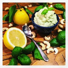 Lemmon & Basil Cashew Cream  My inspiration for this was purely seeing bright yellow lemons with their beautiful bright green leaves still attached and that was it I wanted to use them for something. So I decided to put a little twist on the classic cashew cream recipe.  I blended garlic juice of one lemon and a small bunch of basil to one cup of soaked cashews with a little added water to create the wanted consistency. The cashews need to be soaked for at least 2 hours and preferably…