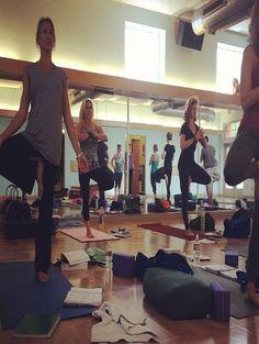 Jenn Hitt practices teaching Vrksasana, Yoga Illumined 2013. Castle Hill Yoga, ATX.  #yoga #teacher #training #austin #Texas www.facebook.com/YogaIllumined