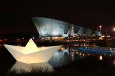 Paper Boat Installation at the Amsterdam Light Festival. #lighting #amsterdam #festival