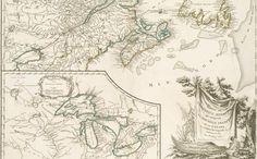Partie de l'Amérique septent? qui Comprend la Nouvelle France ou le Canada (1755)