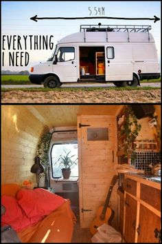 "He did not have any drawings, plans or layout throughout this camper van conversion. ""It was pretty much built on-the-fly."" Read more about this story on our site!"