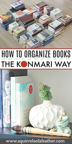 How to Declutter Books with the KonMari Method Decluttering books was so easy with this KonMari method guide! The KonMari method makes so much sense, especially when it comes to getting rid of books. Konmari Books, Declutter Books, Declutter Your Life, Konmari Methode, Pastel Room, Book Organization, Household Organization, Bathroom Organization, Tidy Up