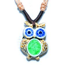 Ceramic Jewellery Rustic Pendant Necklace by dermusensohn2000, $19.99 !!!Summer Promotion Begins!!! Order over $20, 5% refund; Order over $35, 10% refund; Order over $55, 20% refund.
