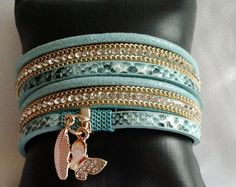 Turquoise Jewelry Cuff Bracelet Leather Cuff by RopesofPearls