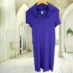 Own me now purple overall dress Own me now comfortable beautiful purple overall dress with turtle neck JJ Authentic Dresses