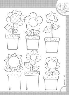 EDIBA.com Flower Coloring Pages, Colouring Pages, Pach Aplique, Spring Pictures, Applique Templates, English Paper Piecing, Punch Art, Digi Stamps, Art Journal Inspiration