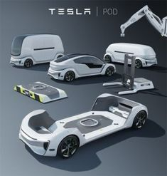 Tesla Pod Modular Autonomous Electric Platform for Private, Public, or Commercial Cabin (Future Technology) Design Transport, Design Autos, Design Cars, Module Design, Future Transportation, Transportation Solutions, Kombi Home, Kabine, Futuristic Cars