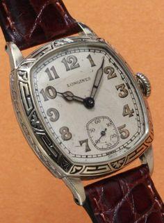 Longines Cushion Style wrist watch, Cal.12.92, c.1930's