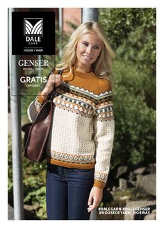 Adult Retro Dale Garn has delved into its fantastic archive of historical designs, and chose several retro designs from the and to update with colors from today. Retro is popular in the fashion world, and it gave Dale Fair Isle Knitting Patterns, Fair Isle Pattern, Knit Patterns, Embroidery Patterns, Vintage Knitting, Free Knitting, Style Norvégien, Fair Isle Pullover, Norwegian Knitting