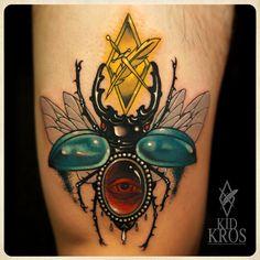 amazing bug tattoo by Kid Kros Casa Occulta https://www.facebook.com/casaocculta http://instagram.com/kidkros