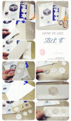 ❤ Dunja Dücker | Mit Liebe für's Detail | Cards und More | : Stick It!! | Ken Oliver Crafts | How to use Stick it