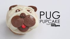 """Ready to make your own """"too cute"""" pug cupcakes? See the recipe here and follow along in this step-by-step how-to..."""