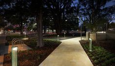 Florence Hummerston Reserve. Architectural design: City Design - Lighting design: Wood & Grieve Engineers Pty Ltd - Partners Assistance: Mondoluce WA - Lighting products: iGuzzini illuminazione - Photographed by Ron Tan #iGuzzini #Light #Lighting #experience #night #urban