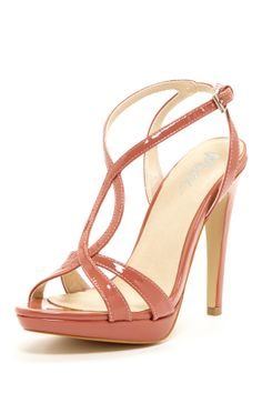 Mixx Shuz Pearl Heel Sandal. if I could wear heels right now, these would be them.