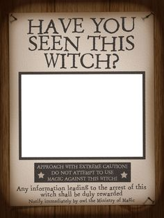 Filler Card/Photo Frame - WWoHP - Have you seen this Witch? - Harry Potter - Universal - IOA - 3x4 photo by pixiesprite