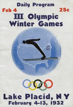 Program for February 4, 1932 at the Winter Olympics in Lake Placid, New York.