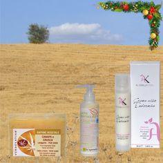 Sugerencia #regalo #Navidad, para el cuidado de la #Piel #Normal y #Mixta. Crema Facial Eudérmica + Leche Desmaquillante + Jabón de Cáñamo y Sándalo. | TeQuieroBio.com