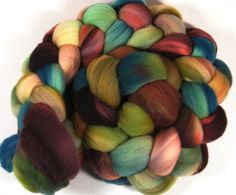 Plum Honey Merino Wool Top for Spinning and Felting by yarnwench, $16.58