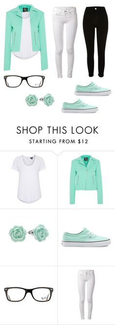 """The Cutest of the Cute!"" by happykoala ❤ liked on Polyvore featuring Topshop, McQ by Alexander McQueen, LC Lauren Conrad, Vans, Ray-Ban, rag & bone and River Island"