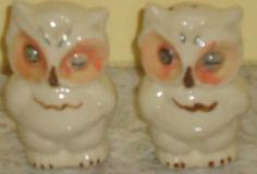 Vintage Shawnee owls salt & pepper shakers  $22.00 www.jazzejunque.com
