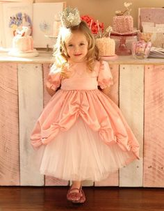 Princess dresses for my flower girls :) --Not so high up in the front though! Princess Peach Dress, Princess Party, Little Princess, Princess Crowns, Pink Princess, Princess Birthday, Princess Dresses, Toddler Princess Dress, Flower Girls