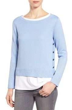 Eileen Fisher Bateau Neck Organic Linen Sweater (Regular & Petite) available at #Nordstrom