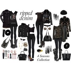 """""""How to Style Ripped Jeans"""" by gina-m on Polyvore"""