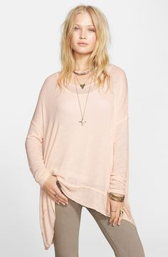 Free People Shadow Hacci Top, Color: Black, Size: M
