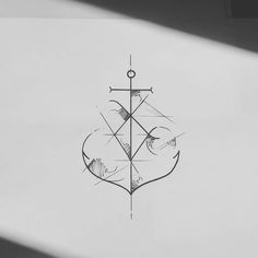 Resultado de imagen para anchor minimal tattoo