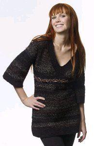 Crochet Empire Waist Tunic | AllFreeCrochet.com