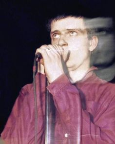 Ian Curtis on stage