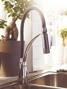 All IKEA Kitchen Faucets Reduce Water Usage Up To 30%. ALESKÄR Faucet Also  Has A Hand Spray To Get Water Right Where You Want.