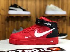 a66a68dda799 Nike Air Force 1  07 Lv8 Utility University red black white AJ7747-100 Mens