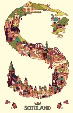Great Britain by Kelly Chilton, via Behance