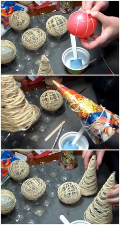 #DIY Idea: How to make some lovely Christmas ornaments out of yarn