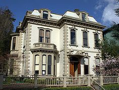 Jacob Kamm House circa 1871 in Portland, OR. This is a French Second Empire style Victorian.
