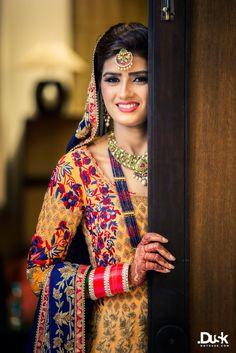 Looking for orange anarkali? Browse of latest bridal photos, lehenga & jewelry designs, decor ideas, etc. on WedMeGood Gallery. Pakistani Wedding Dresses, Pakistani Outfits, Indian Outfits, Beautiful Suit, Beautiful Bride, Desi Wedding, Luxury Wedding, Punjabi Bride, Punjabi Wedding
