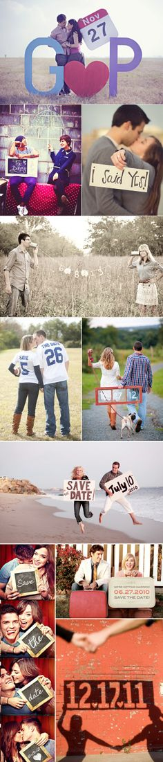 48 Save-the-Date Ideas. Soo cute. Love the photo booth idea with the chalked sign