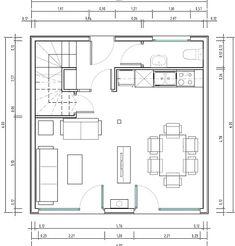 Casa cubo de 72 metros cuadrados
