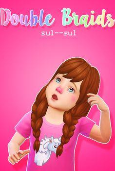 DazzlingSimmer — sul–sul: Double Braids Toddler EA Palette ...