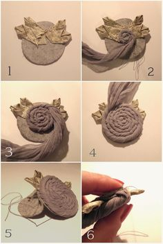 Cherry Garden Dolls: DIY ROSE decor ( brooch, a pendant, sewing ornament) free lesson