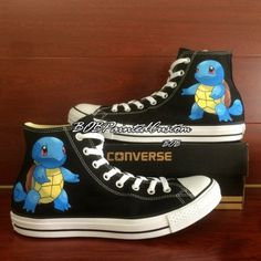 9480574cfe35a7 Anime Pokemon Squirtle Hand Painted Converse Chuck Taylor All St