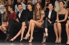 SS13 front row: Marpessa Hennink, Noah Mills, Bianca Balti, Bianca Brandolini d'Adda, Laetitia Casta, Livia Firth