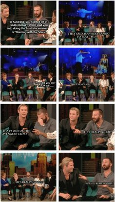 Chris & Chris on, The View 5-4-12 .... Hemworth's dance moves on the Australian Dancing with the Stars.