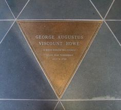 George Augustus, Lord Howe, killed in 1758 in an attack on Ticonderoga during the French and Indian War is buried in the front vestibule at St. Peter's Church