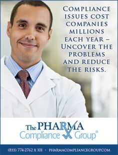 The Pharma Compliance Group - Compliance issues cost companies millions each year - uncover the problems and reduce the risks (As seen in the 2016 Pharmacy Platinum Pages Buyer's Guide: rxplatinumpages.com).