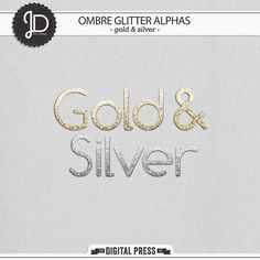 Ombre Glitter Alphas